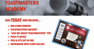 Toastmasters Member Giveaway Flyer header 2019